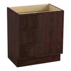 """Jacquard 30"""" Vanity Base with Toe Kick, 1 Door and 3 Drawers on Left"""