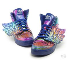 "Jeremy Scott x adidas Wings ""Rainbow Hologram"" Available Now 
