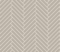 herringbone_greige fabric by ravynka on Spoonflower - custom fabric