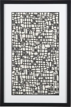 Katagami Syncopated Geometry Print in All Sale | Crate and Barrel