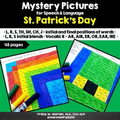 Mystery Pictures for Speech & Language St. Pat's Day 4,600 Words
