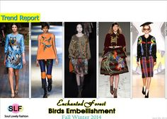 Enchanted Forest Birds Embellishment#Fashion Trend for Fall Winter 2014 #Fall2014 #FW2014 #Trends