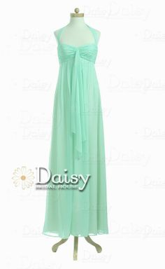Custom Short Mint Chiffon Bridesmaid by DaisyBridalHouse on Etsy, $85.00 - can be made in many colours including white @ haleigh worr