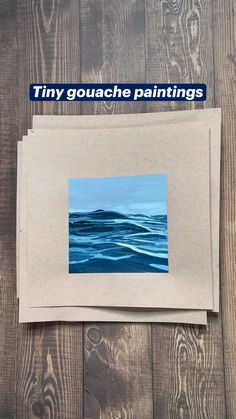 Easy Landscape Paintings, Beach Paintings, Small Paintings, Watercolor Landscape, Gouache Painting, Artist Painting, Painting Lessons, Painting Techniques, Gouache Tutorial