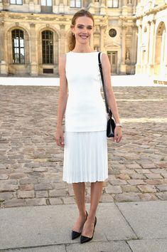 Best Dressed Front Row Celebs at PFW Spring 2015 --  Natalia Vodianova at Christian Dior