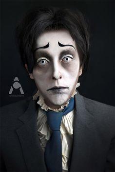 corpse bride Halloween makeup