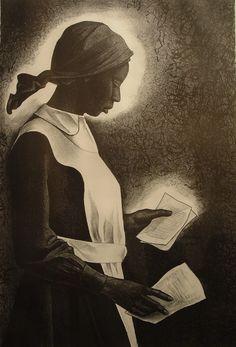 Celie (etching)-Elizabeth Catlett