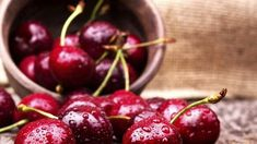 Cherries contain naturally occurring chemicals called anthocyanins, which could help lower blood sugar levels in people with diabetes. A study published in the Journal of Agricultural and Food Chemistry found anthocyanins could reduce insulin production b Health Benefits Of Cherries, Food Chemistry, Lower Blood Sugar Naturally, Tart Cherry Juice, Cherry Sauce, Fresh Cherry, Fresh Fruit, Food Network Canada, Cherry Recipes