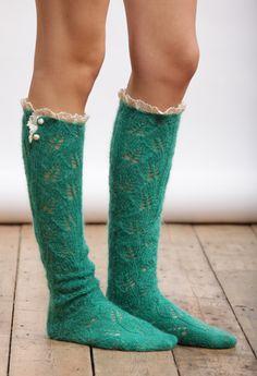 fun mohair socks