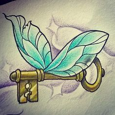 This little ones available.. Email emma.may.tattoos@hotmail.com if your keen  #harrypottertattoo #flyingkey #key #brokenwings