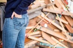 Wearing @agjeans Ravine Raglan sweater and Nikki jeans | Enter the AG Holiday Pinterest sweepstakes here: http://sweeps.piqora.com/AGHoliday14 | Sweepstakes starts at 5:00 am PST on November 17, 2014 and ends at 11:59 pm PST on December 5, 2014