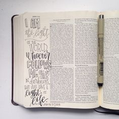 John 8:12 - lettering love by Accrewed Design on Instagram #journalingBible #illustratedfaith