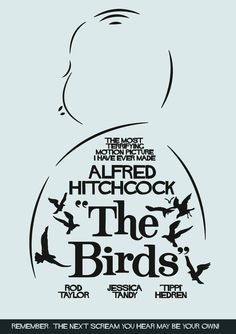 Old Movie Posters, Minimal Movie Posters, Cinema Posters, Movie Poster Art, Poster On, Horror Posters, Scary Movies, Old Movies, Alfred Hitchcock The Birds