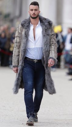 Men's Fashion - Fur Coat