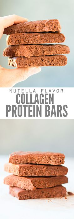 If you loved bulletproof bars, make these healthy collagen protein bars instead. My favorite is Nutella, but you can make vanilla or peanut butter too! :: DontWastetheCrumbs.com