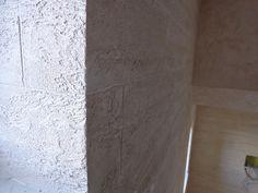 Corner-Brick Effect Special Textured Paint Travertino Romano Oikos by Italian Design Center pte ltd Singapore
