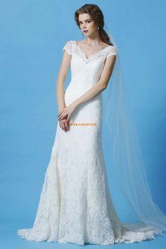 Krajkový vzhled Klasické & nadčasové Léto Levné svatební šaty