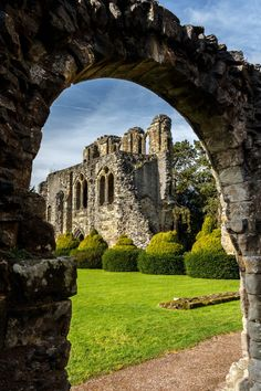 View from the Chapter House door, Wenlock Priory / England (by...
