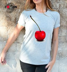 NEW Kawaii Cherries T-shirt / Sweet as Cherry / Hand by Cotton9