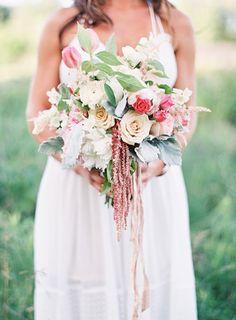 Sweet Blush Garden Bouquet   Emily Jane Photography   Summer Berry Boho Wedding Shoot