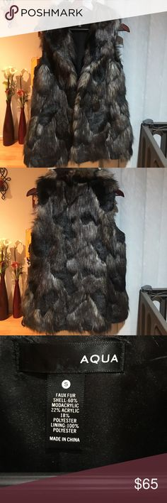 Faux Fur Vest by AQUA The perfect fall / winter staple. I love this piece but I am moving and I can't bring it all! Aqua Jackets & Coats Vests