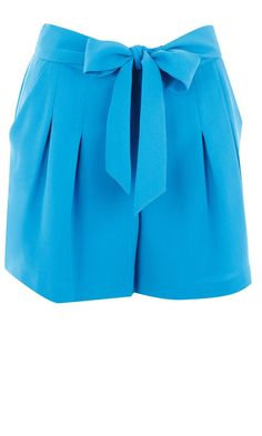 Warehouse Blue Belted Shorts, £38