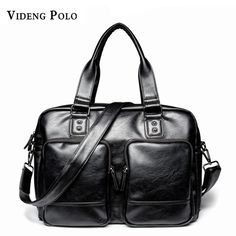 b6ae3f281b VIDENG POLO Brand PU Leather Men Handbag Business 14 Laptop Tote Briefcases  Crossbody Shoulder bag Large Capacity travel bag-in Crossbody Bags from  Luggage ...