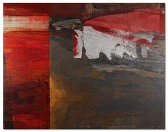 Olivier Schneider - Strates (peinture acryl, toile, feuille de murier)