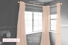Emily Henderson Corner Window. Sketch 3