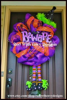 Halloween Wreath, Deco Mesh WreathDecoration