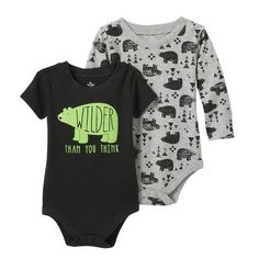 Baby Boy Baby Starters 2-pk. Bear Bodysuits, Size: