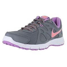 huge discount f295c 0ef2e Womens Nike Revolution 2 Running Shoe Cool GreyFuchsia GlowWhiteSunset Glow  Size 11 M US   Want