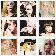 The different images of Lady Gaga