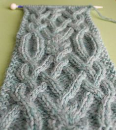 How to Knit a Fancy Celtic Cable Pattern with Studio Knit #StudioKnit #knittingpattern #knitstitchpattern #knitscarf #scarf