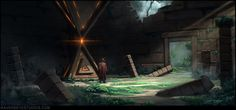 traingle monolith - fantasy, Travis Lacey on ArtStation at https://www.artstation.com/artwork/nJkWE