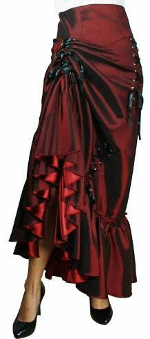 Red Victorian Trinity Skirt, $64.95  hitch either or both sides, or leave it long