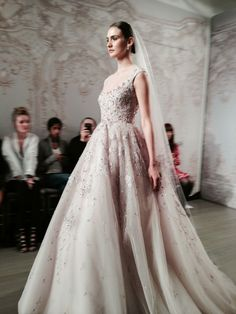"""""""Moonlit"""" - Monique Lhuillier Fall 2015 Bridal Collection  