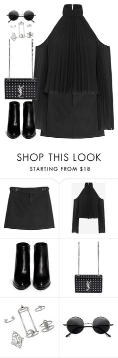 """""""Untitled#4239"""" by fashionnfacts ❤ liked on Polyvore featuring Marc by Marc Jacobs, Exclusive for Intermix, Alexander Wang, Yves Saint Laurent, Topshop and Retrò"""