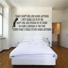 Lazy Song Wall Sticker Bruno Mars Wall Art