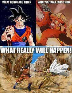 Dragon Ball Z and One Punch Man: Goku vs Saitama Anime Naruto, Dc Anime, Anime One, Bd Comics, Free Comics, Saitama, Akira, Dbz Memes, Goku Meme