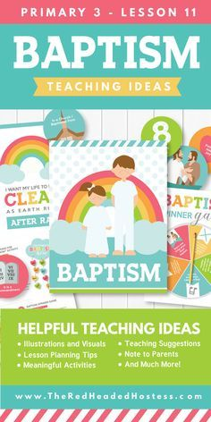 Baptism - LDS Teaching Ideas and Suggestions (Primary 3 Lesson 10)