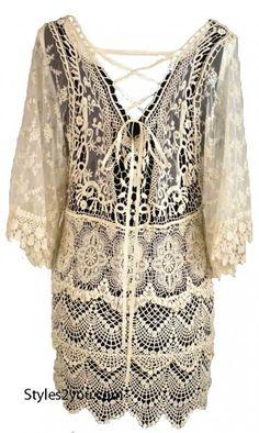 AP Abigail Vintage Lace Blouse In Carmel