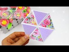 DIY HEXAFLEXAGON ENDLESS CARD EASY TUTORIAL - YouTube
