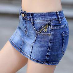 Encontrar Más Shorts Información acerca de Jeans Shorts faldas para mujer de…