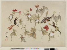 河鍋暁斎の画像 p3_14 Japanese Drawings, Japanese Artwork, Japanese Painting, Japanese Prints, Japanese Illustration, Illustration Art, Hokusai, Japan Art, Fauna
