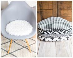 Sitzkissen für Eames Chair in Schwarz- Weiß