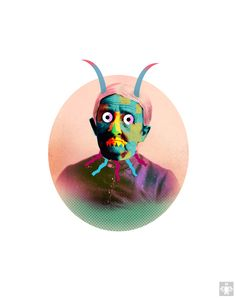 monster faces by Ahmet Ozcan, via Behance