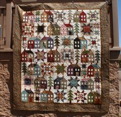 MISS-ROSIES-Come-On-A-My-House-Reproduction-Floral-Fabric-Quilt-Kit-FREE-SHIP