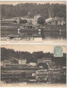 Paris, Bas Meudon funiculaire, bateaux mouches Parisiens, type mouche