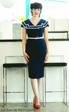 rehearsal dinner dress? Captain Blue Pencil | Bettie Page Clothing
